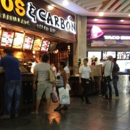 Taco Bell and a salad bar with your grilled meat - at one of the big food courts in Albrook Mall