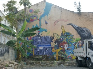 Colorful paintings on the walls of Panamá City