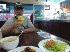 Barry enjoying a El Burro Loco meal