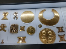Gold artifacts of the ancient indigenous