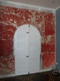 Wonderful color and texture on the Downtown Yoga studio walls