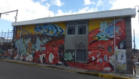 Painted San José building