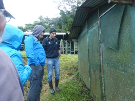 Naturalist Kevin, a Ph.D. student from Honduras explaining how the biodigestor works.