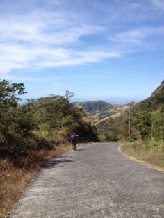 The beginning of our walk to San Luis - a beautiful day