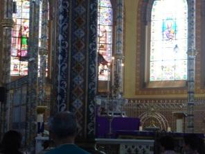Inside a San José cathedral