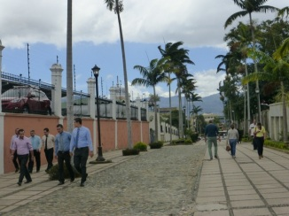 A walkway near the university in San José