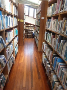 Library aisles
